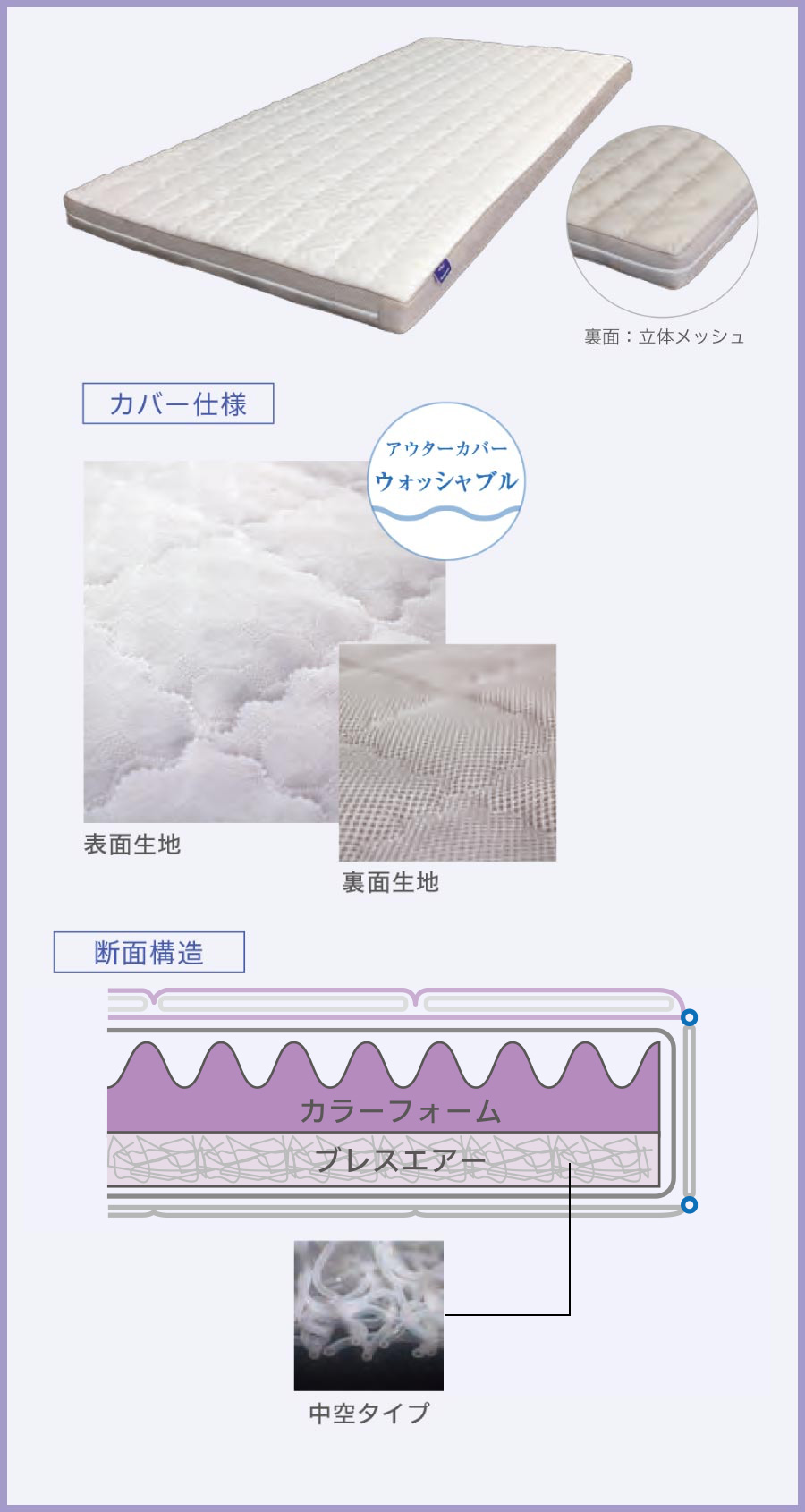 BREATH AIR x Color foam  「涼x暖」敷ふとん